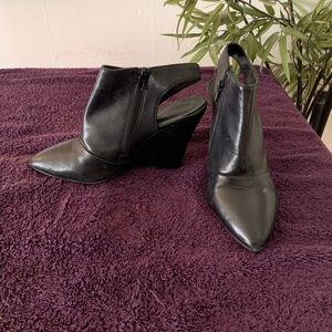 BCBG Leather Booties